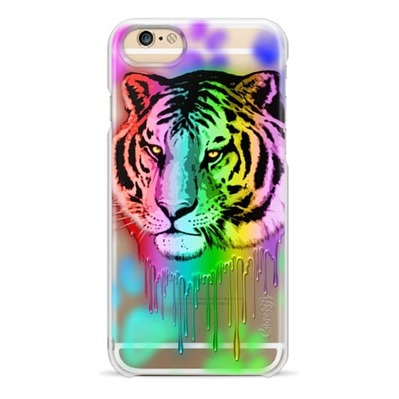 iPhone 6s Cases - Tiger Neon Dripping Rainbow Colors