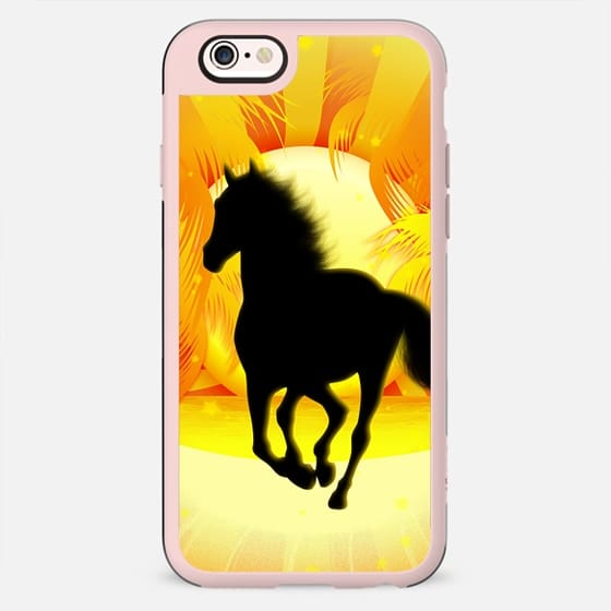 Wild Horse Running on Tropical Sunset - New Standard Case