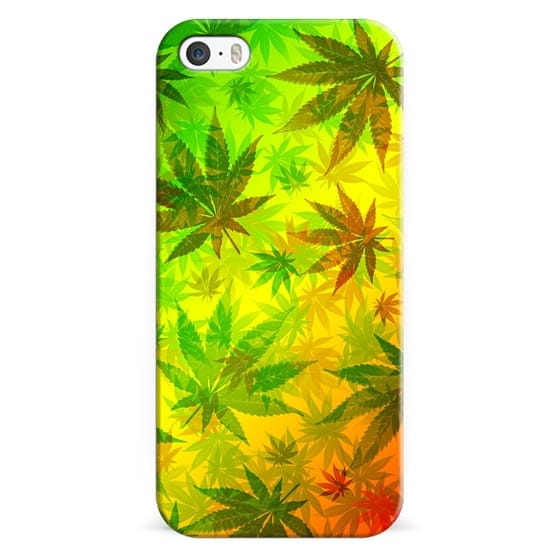 iPhone 6s Cases - Marijuana Leaves Rasta Pattern