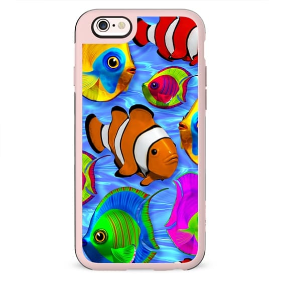 3D Tropical Fishes Pattern