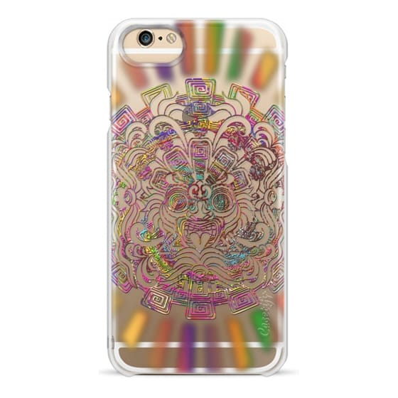 iPhone 6 Cases - Aztec Sun Psychedelic Mask