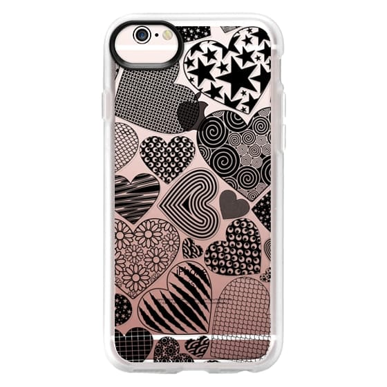 iPhone 6s Cases - Love Hearts Doodle Art Pattern