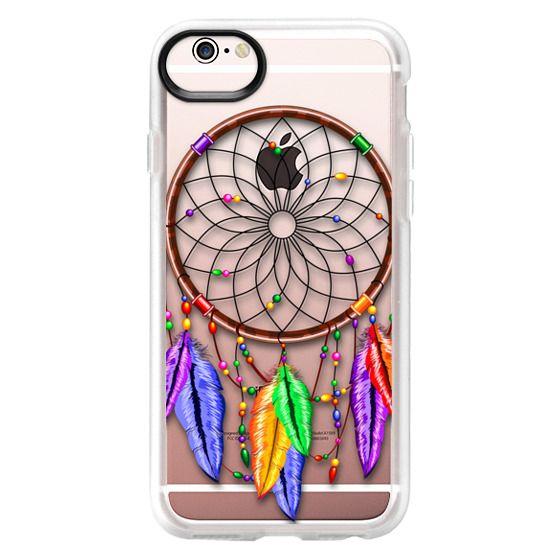 iPhone 6s Cases - Dreamcatcher Rainbow Feathers