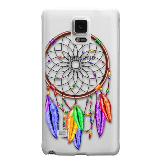 Samsung Galaxy Note 4 Cases - Dreamcatcher Rainbow Feathers