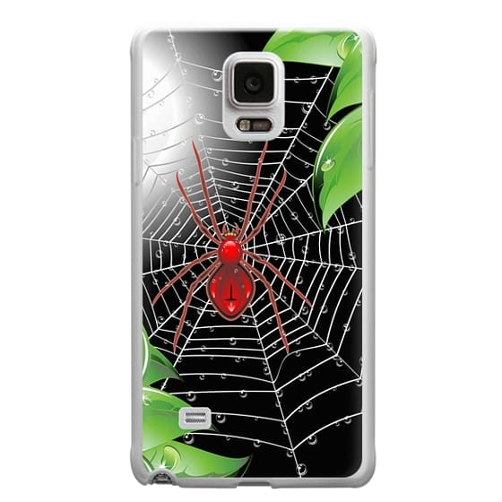 Samsung Galaxy Note 4 Cases - Red Spider on Web