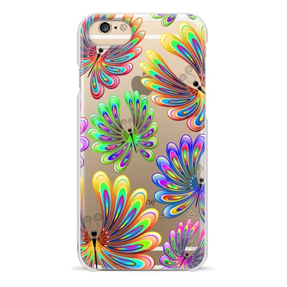 iPhone 6 Cases - Psychedelic Abstract Butterflies