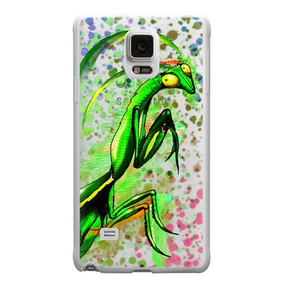 Samsung Galaxy Note 4 Cases - Praying Mantis Doodle Art