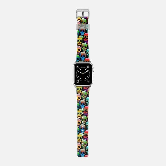 Sugar Skulls - Saffiano Leather Watch Band