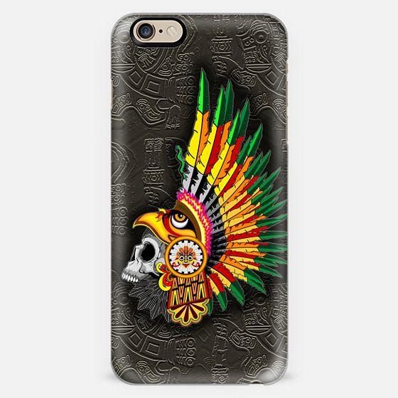 Aztec Eagle Warrior Skull -
