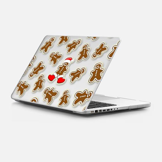 Casetify Macbook Case - Gingerbread Men Santa Claus Pattern