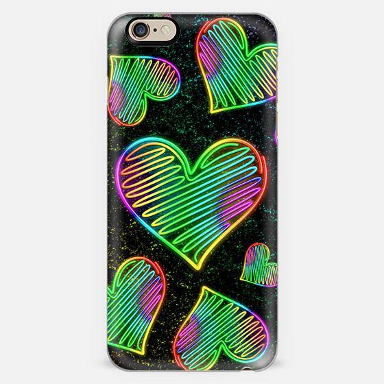 Heart Love Neon Rainbow Colors  -