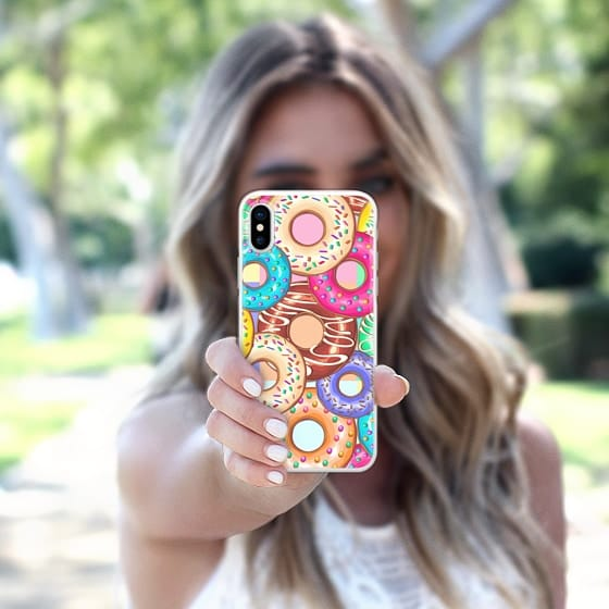 Donuts Punchy Pastel flavours Pattern - Snap Case