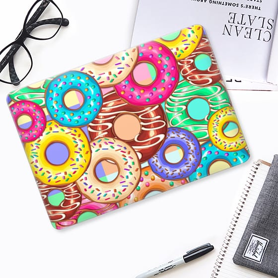 Donuts Punchy Pastel flavours Pattern - Macbook Snap Case