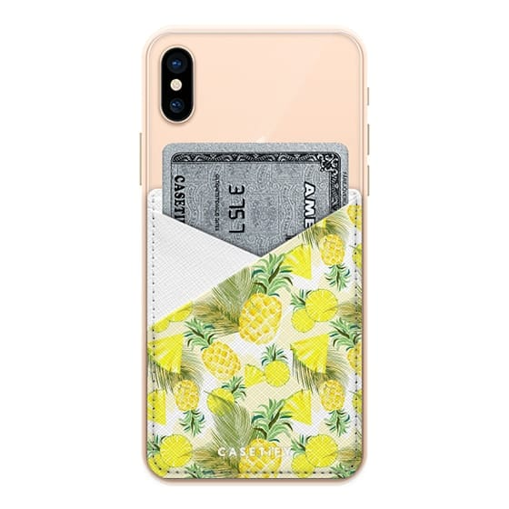 iPhone XS Cases - Pineapples Watercolor Fresh Summer Fruits