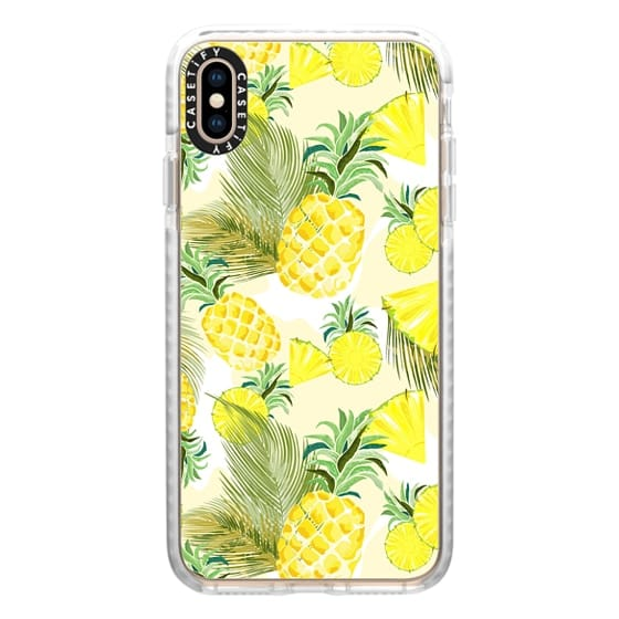 iPhone XS Max Cases - Pineapple Watercolor Fresh Summer Fruits