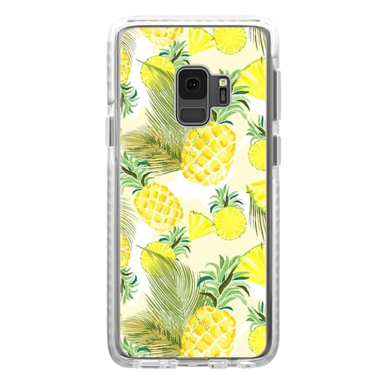 Samsung Galaxy S9 Cases - Pineapple Watercolor Fresh Summer Fruits