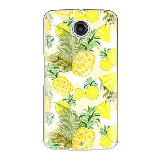 Nexus 6 Cases - Pineapple Watercolor Fresh Summer Fruits
