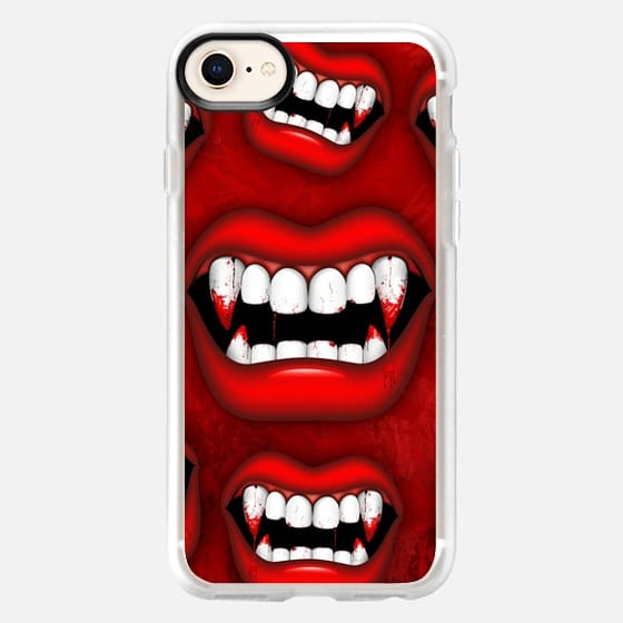 Vampire Red Bloody Mouth - Snap Case