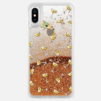 iPhone X ケース champagne dreams