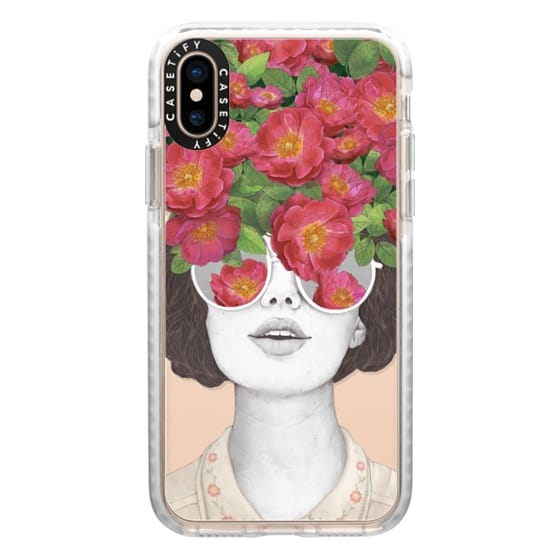 iPhone XS Cases - The optimist // rose tinted glasses