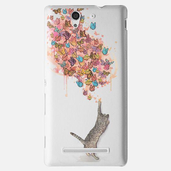 cat catching butterflies