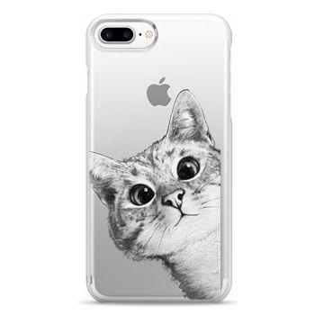 Snap iPhone 7 Plus Case - peekaboo cat on rose gold