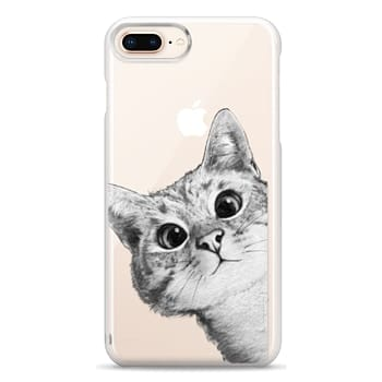 Snap iPhone 8 Plus Case - peekaboo cat on rose gold