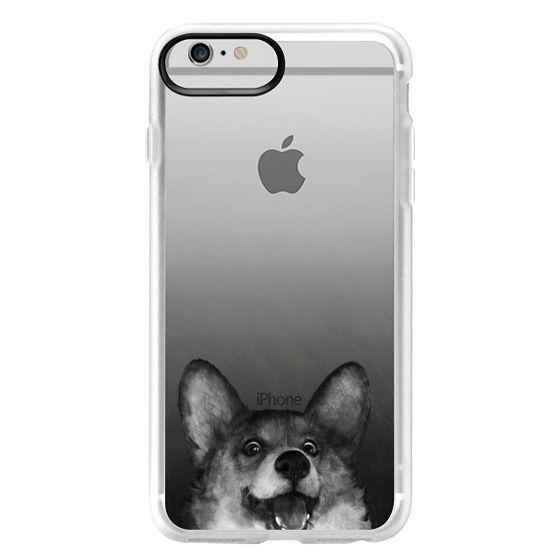 iPhone 6 Plus Cases - corgi on gold