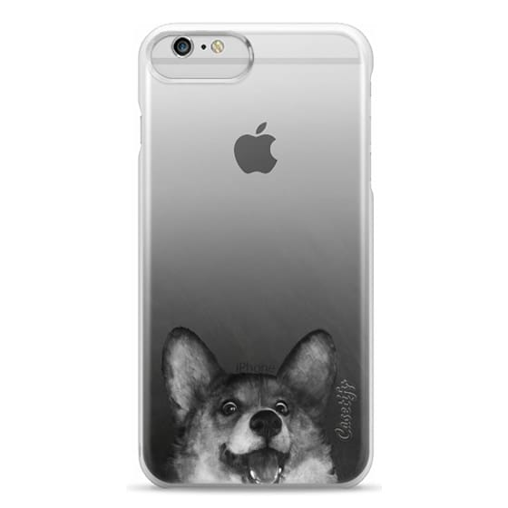 iPhone 6 Plus Cases - corgi on gold