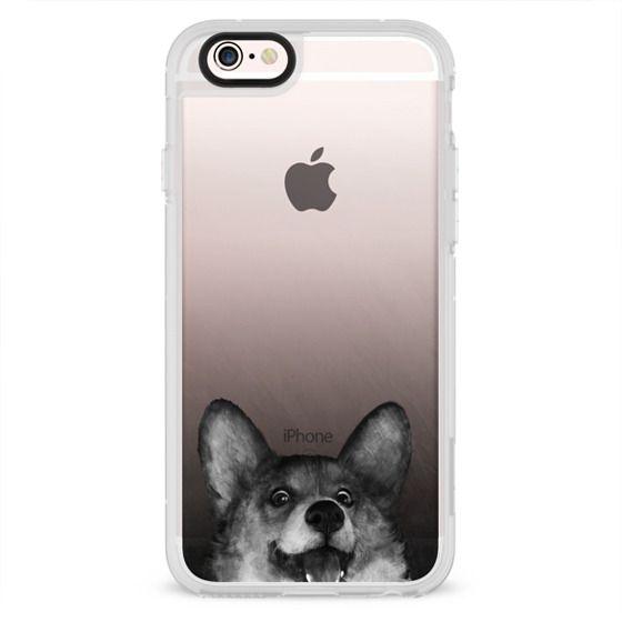 iPhone 4 Cases - corgi on gold
