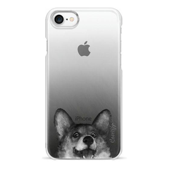 iPhone 7 Cases - corgi on gold