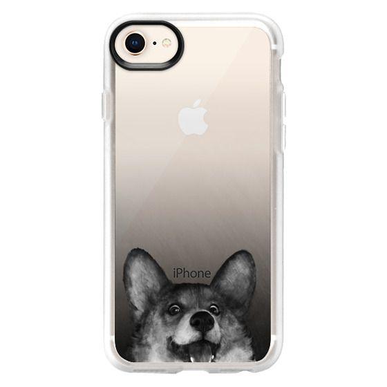 iPhone 8 Cases - corgi on gold