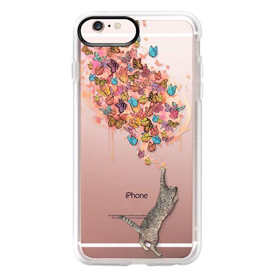 iPhone 6s Plus Cases - cat catching butterflies