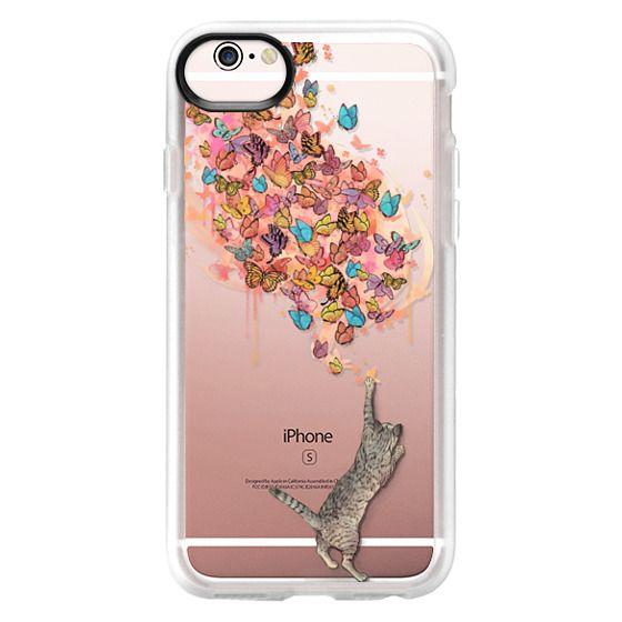 iPhone 6s Cases - cat catching butterflies