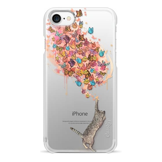 iPhone 7 Cases - cat catching butterflies