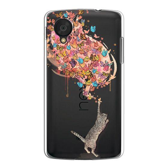 Nexus 5 Cases - cat catching butterflies