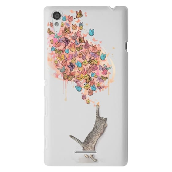 Sony T3 Cases - cat catching butterflies