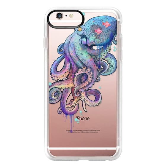 iPhone 6s Plus Cases - nautical rainbow coloured octopus with psychedelic tentacles