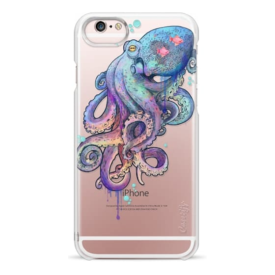 iPhone 6s Cases - nautical rainbow coloured octopus with psychedelic tentacles
