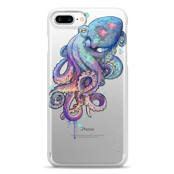 iPhone 7 Plus Cases - nautical rainbow coloured octopus with psychedelic tentacles