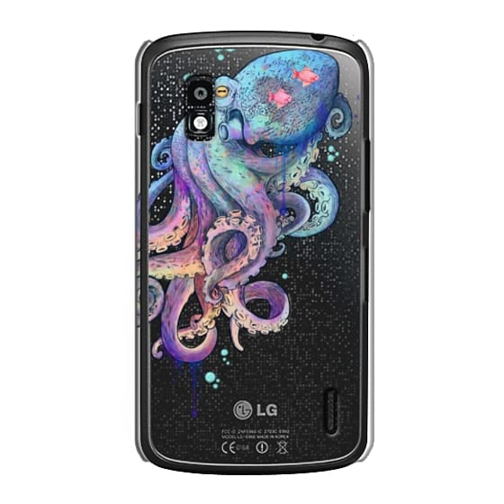Nexus 4 Cases - nautical rainbow coloured octopus with psychedelic tentacles