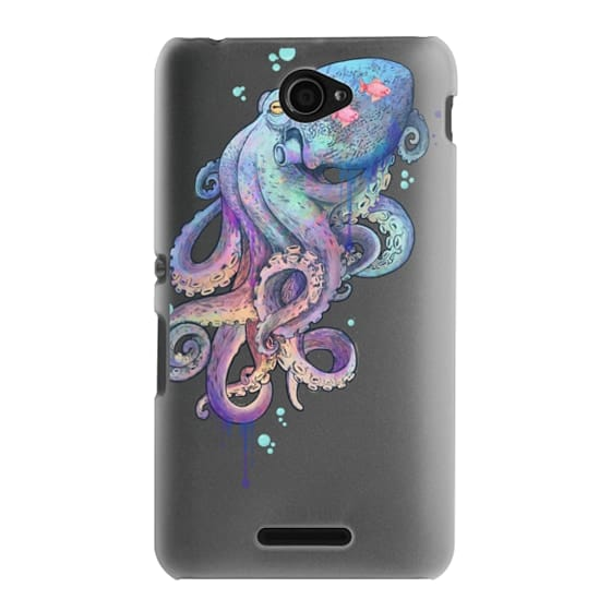 Sony E4 Cases - nautical rainbow coloured octopus with psychedelic tentacles