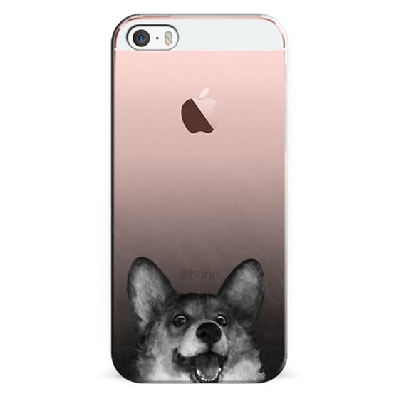 iPhone Se Cases - corgi on gold