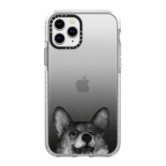 iPhone 11 Pro Cases - corgi on gold