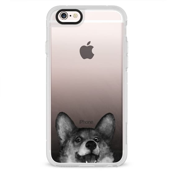 iPhone 6s Cases - corgi on gold