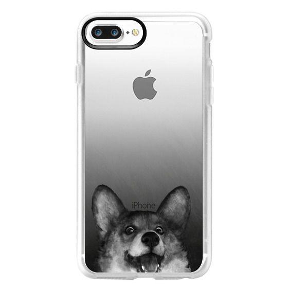 iPhone 7 Plus Cases - corgi on gold