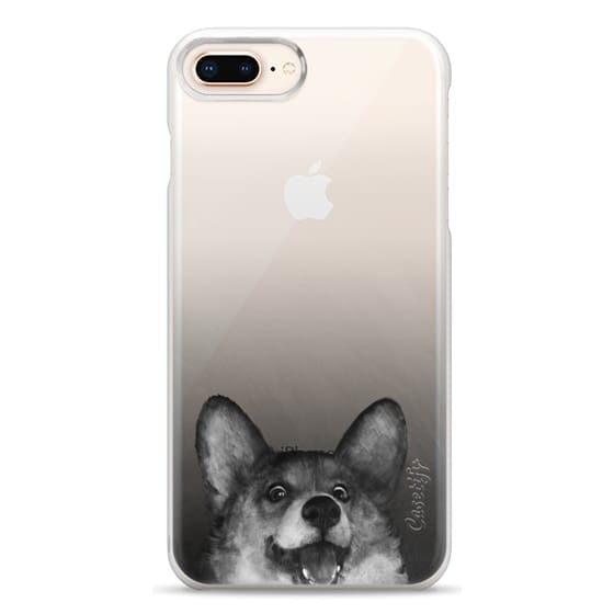 iPhone 8 Plus Cases - corgi on gold