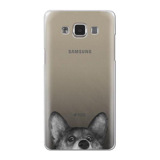 Samsung Galaxy A5 Cases - corgi on gold