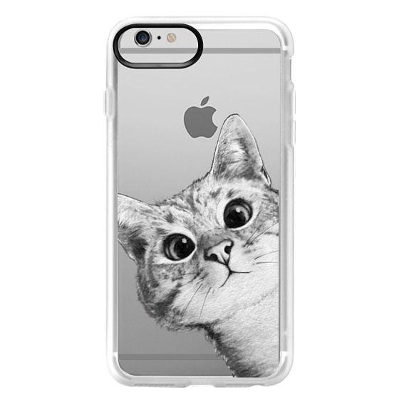 iPhone 6 Plus Cases - peekaboo cat on rose gold