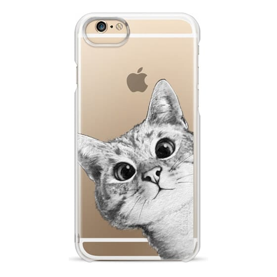 iPhone 6 Cases - peekaboo cat on rose gold